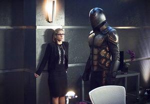 Felicity Smoak during robotic bee attack