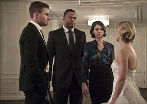 Oliver, John Diggle, Thea, Felicity on