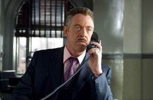 J.K. Simmons as editor in chief at Daily Bugle