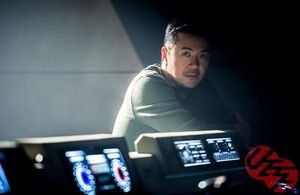 Justin Lin on set of Star Trek Beyond