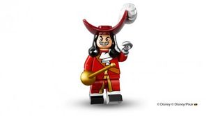 Captain Hook in Lego minifigure form