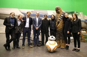 Royal appearances on the set of Star Wars