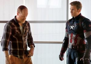 Joss Whedon and Chris Evans