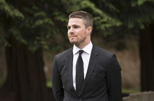 Oliver Queen at Laurel Lance's funeral