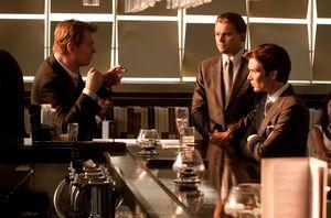 Cillian Murphy, Leonardo DiCaprio, and Christopher Nolan