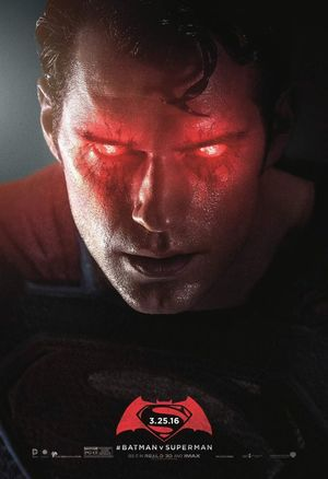 Unused Superman poster makes the big boy scout look frighten