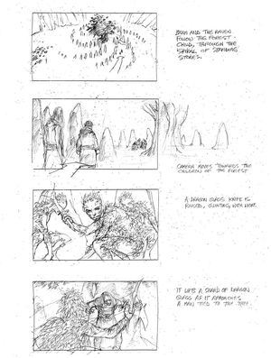 The origin of the White Walkers storyboard 1