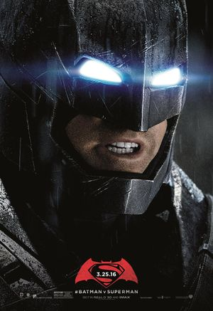 Get up close and personal with this unused poster for Batman