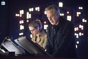 Felicity Smoak and her father Noah Kuttler