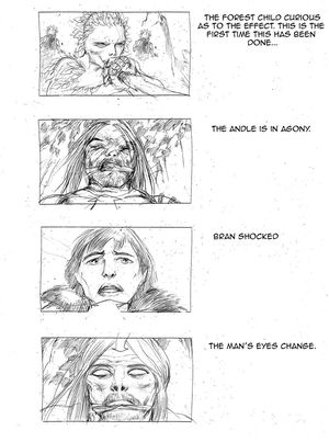 The origin of the white walkers storyboard 3