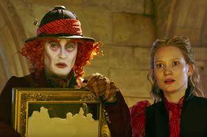 Johnny Depp and Mia Wasikowska in