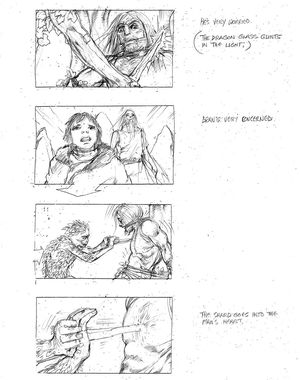 The origin of the white walkers storyboard 2