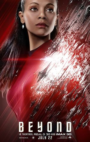 Zoe Saldana as Uhura in Star Trek Beyond Character Poster
