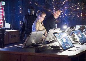 Felicity Smoak, Noah Kuttler, Spartan/John Diggle