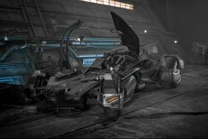 New Batmobile seen on the set of Justice League (Image via C