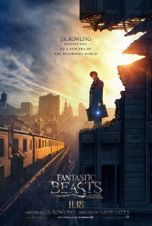 Eddie Redmayne featured in the new poster for JK Rowling's F