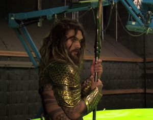 Jason Momoa posing as Aquaman