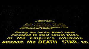 Star Wars: Episode IV opening crawl