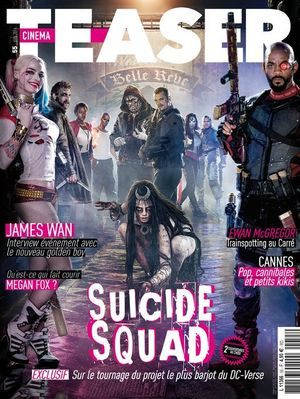 Suicide Squad on the cover of Cinema Teaser