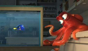 Dory (Ellen DeGeneres) and Hank (Ed O'Neill) in
