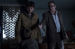 Patrick Fugit and Philip Glenister in 'Outcast'