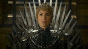 Cersei Lannister on the Iron Throne, S6E10