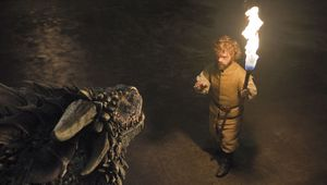 Tyrion with a dragon, Season 6
