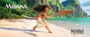 Moana voiced by Auli'i Cravalho