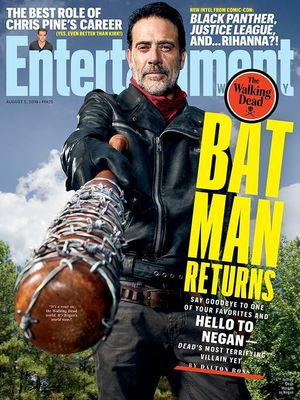 Jeffrey Dean Morgan as Negan on the cover of EW