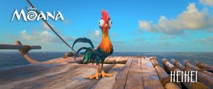 Heihei voiced by Alan Tudyk: stowaway rooster who unexpected