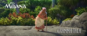 Gramma Tala voiced by Rachel House: Moana's grandmother