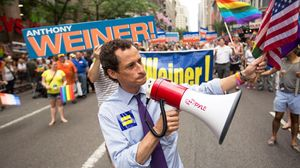 Anthony Weiner Campaigning