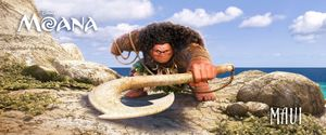 Maui voiced by Dwayne Johnson