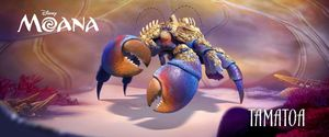 Tamatoa voiced by Jemaine Clement: 50-foot crab living in th