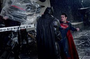 Another behind the scenes photo released from 'Batman v Supe