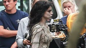 Sofia Boutella as the Mummy on the Monster Movie set