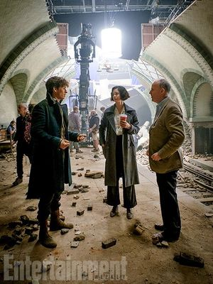 On the set of 'Fantastic Beasts'