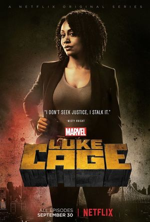 Character poster for Misty Knight in Marvel's Luke Cage