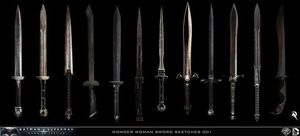 Wonder Woman's sword concept art