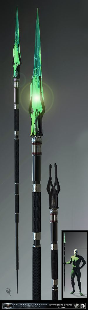 Kryptonite spear concept art