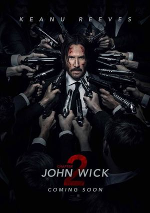All guns on John Wick in the official poster for Chapter 2 i