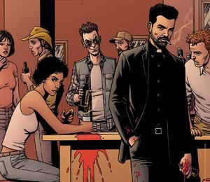 Preacher image drawn by original series creator Steve Dillon
