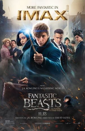 Official IMAX poster for 'Fantastic Beasts and Where to Find