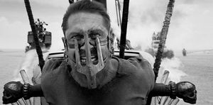 Mad Max: Fury Road in black and white