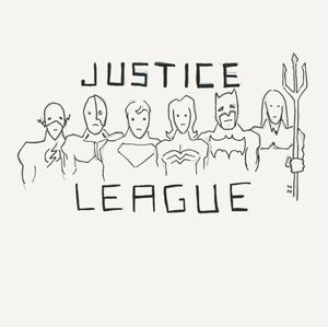 Check out a sketch of the Justice League, as penciled by dir