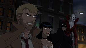 Constantine, Zatanna, Batman, and Deadman