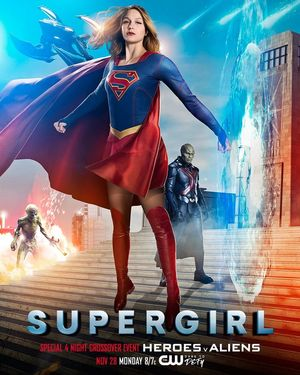 Official Supergirl poster teases the upcoming four-series cr