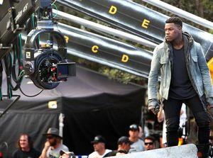 John Boyega on the set of Pacific Rim 2