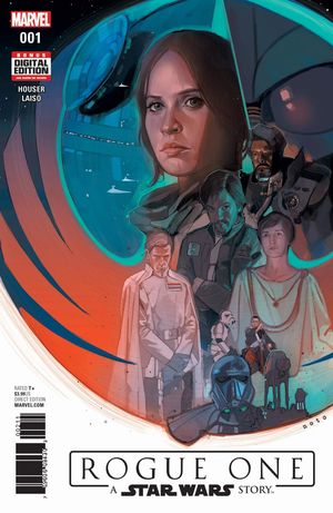 Artwork for issue one of the Rogue One comic book adaptation