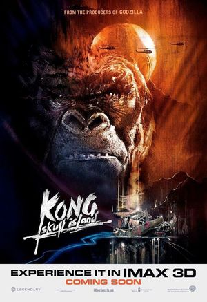 Which classic film does the IMAX poster for 'Kong: Skull Isl